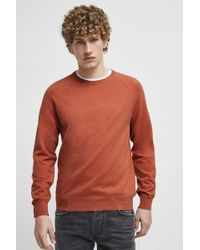 French Connection - Stretch Cotton Crew Neck Jumper - Lyst