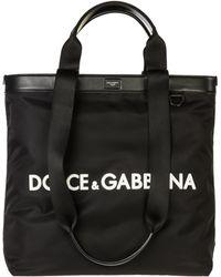 1f95b9e437d1 Dolce   Gabbana Black Nylon Duffle Bag in Black for Men - Lyst