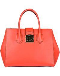 a287b49f0c Furla - Leather Handbag Shopping Bag Purse Metropolis - Lyst