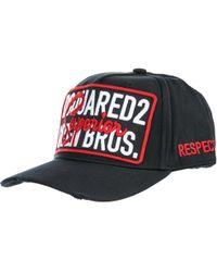 DSquared² - Cappello berretto regolabile uomo in cotone superior - Lyst