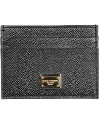 Dolce & Gabbana - Porta carte di credito portafoglio donna pelle - Lyst