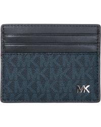 Michael Kors - Genuine Leather Credit Card Case Holder Wallet Jet Set - Lyst