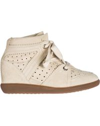 Isabel Marant - Shoes High Top Suede Trainers Sneakers Bobby - Lyst