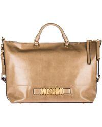 Boutique Moschino Handbag Shopping Bag Purse In In Pelle