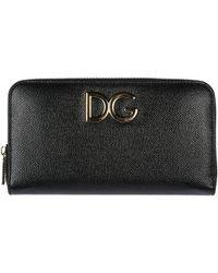Dolce & Gabbana - Wallet Genuine Leather Coin Case Holder Purse Card Bifold - Lyst