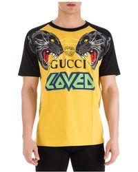 e29fc0e2d0e Gucci Embroidered Piqué Polo Shirt in Black for Men - Lyst