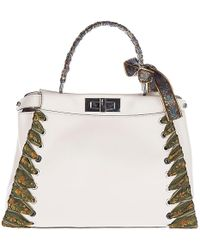 ... wholesale fendi leather handbag shopping bag purse peekaboo regular lyst  8dab0 1f9b8 ... ab491c7a0e11c