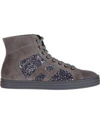 67ebc76d8cd36 Hogan Rebel - Scarpe sneakers bimba bambina alte camoscio r141 - Lyst