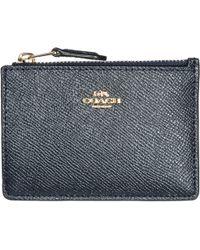 COACH - Porta carte di credito portafoglio donna pelle mini skinny - Lyst