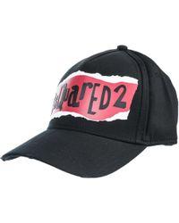 DSquared² - Cappello berretto regolabile uomo in cotone - Lyst