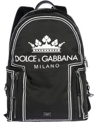 6a3cfbdd9f Lyst - Dolce   Gabbana Black   Blue Nylon Jazz Players Backpack in ...