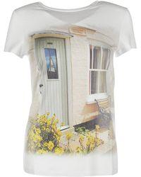 Blugirl Blumarine - T-shirt Short Sleeve Crew Neck Round - Lyst