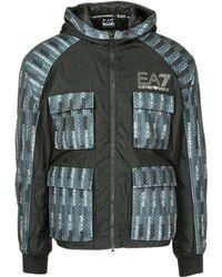 EA7 - Outerwear Jacket Blouson Hood - Lyst