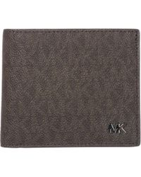 5143277e4e35 Lyst - Michael Kors Jet Set Shadow Signature Bifold Wallet in Brown ...