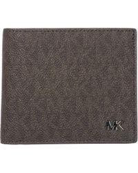 028ef9c7ee7d Lyst - Michael Kors Jet Set Shadow Signature Bifold Wallet in Brown ...