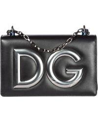 97d405fcbea9 Dolce   Gabbana - Leather Shoulder Bag Dg Girls - Lyst