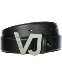 Versace Jeans - Genuine Leather Belt - Lyst