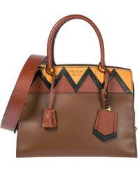 Prada - Leather Handbag Shopping Bag Purse - Lyst