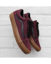 5de1ec1153 Vans Old Skool Plimsolls In Premium Leather in Red for Men - Lyst