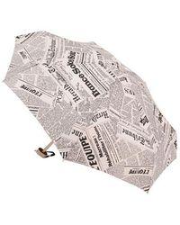 Pierre Vaux - Micro Parapluie pliant manuel imprimé journal - Lyst
