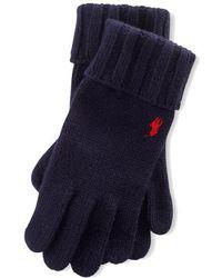 Polo Ralph Lauren Gants en laine à logo brodé