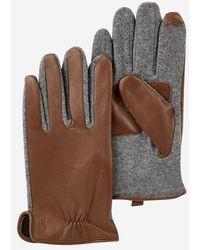 Polo Ralph Lauren - Gants tactiles en cuir et laine - Lyst