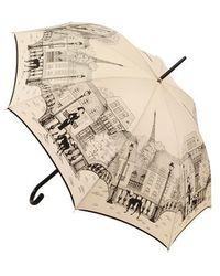 Guy De Jean - Parapluie long manuel à poignée courbe - Lyst