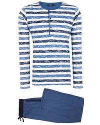 Galeries Lafayette - Pyjama à rayures fantaisie - Lyst
