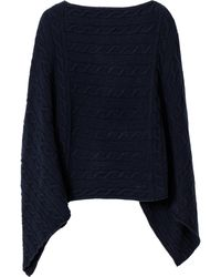 GANT - Lambswool Cable Poncho - Lyst