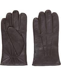 GANT - Leather Gloves - Lyst