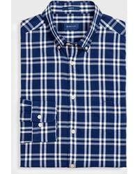 GANT - Regular Fit Windblown Oxford Plaid Shirt - Lyst