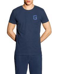 GANT - Crew Neck Logo T-shirt - Lyst