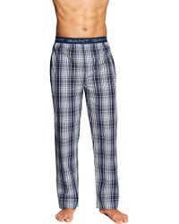 GANT - Blue Check Woven Pyjama Trousers - Lyst