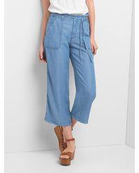 Gap - Tenceltm Wide-leg Utility Crop Trousers - Lyst