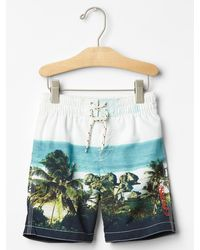 Gap - Tropical Floral Swim Trunks - Lyst