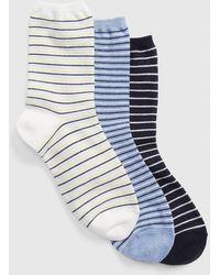 Gap - Pattern Crew Socks (3-pack) - Lyst