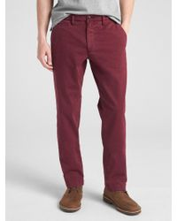 Gap - Vintage Wash Khakis In Straight Fit With Flex - Lyst
