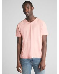 Gap - Classic V T-shirt In Cotton-linen - Lyst