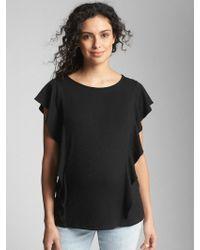 Gap - Maternity Softspun Flutter Sleeve Top - Lyst