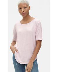 Gap Softspun Relaxed Short Sleeve T-shirt - Pink