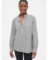 7bbc40366cd8e Lyst - Gap Maternity Floral Split Neck Shirt in Black