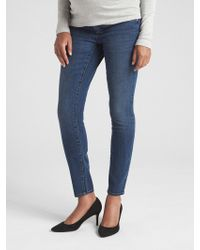 Gap - Maternity Soft Wear Inset Panel True Skinny Jeans - Lyst