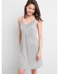 Lyst - Seraphine Seamless Bamboo Maternity   Nursing Nightie in Gray df395f1f9