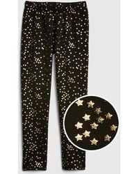 a28464776b55a8 Lyst - Charlotte Russe Plus Size Fleece Lined Leggings in Black