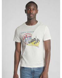 Gap - Logo Global Remix Spliced Graphic Short Sleeve T-shirt - Lyst