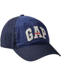 GAP Factory - Colorblock Arch Logo Baseball Hat In Twill - Lyst 6f503a05b72e