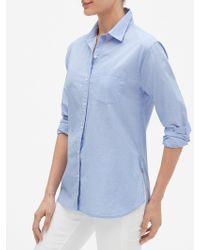 05a1fd90320c9 GAP Factory - Long Sleeve Shirt In Poplin - Lyst
