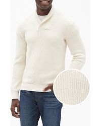 GAP Factory - Shawl-collar Pullover Sweater - Lyst