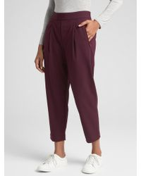 GAP Factory - Pleated Crop Pants - Lyst