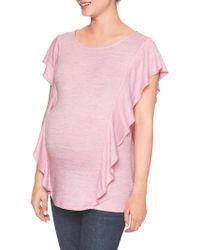 GAP Factory - Maternity Softspun Flutter Sleeve Top - Lyst